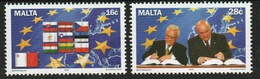 Malta Set Of Stamps From 2004 To Celebrate Accession To European Union. - Malta