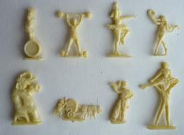 RARES FIGURINES PUBLICITAIRES - LOT 8 FIGURINES SCARPIA SANAL BRESILIA - CIRQUE - Figurine Publicitaire - Figurines