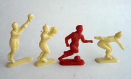 LOT 5 FIGURINES PUBLICITAIRES - CAFE LE CRACK -  FOOTBALL & SPORTS - Le BABY - L'AIGLON 1 - Figurine Publicitaire - Figurines