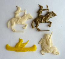 LOT 4 FIGURINES PUBLICITAIRES - CAFE FINECTAR JIHAIR - LE FAR WEST - INDIENS - Figurine Publicitaire - Figurines