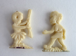 LOT 2 FIGURINES PUBLICITAIRES - Marque INCONNUE -  AFRIQUE AFRICAINS - Figurine Publicitaire - Figurines