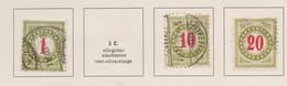 SUISSE 'Timbres-taxe 1903-1910:  Petit Lot D'oblitérés Dont Le 26AK,    TTB - Portomarken