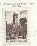 PIA - BELG - 1971 : 9° Centenario Dell' Abbazia Di Notre-Dame Di Orval  -  (Yv  1592) - Cristianismo