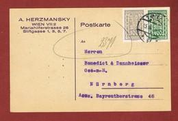 Infla Ab 1 Dez 1923   Postkarte Perfins A. Herzmansky - 1918-1945 1. Republik