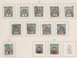 SUISSE 'Timbres-taxe 1910-1924:  Petit Lot De Neufs* Et Oblitérés,    TTB - Portomarken