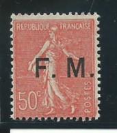 FRANCE: **, FM N°6, TB - Franchise Stamps
