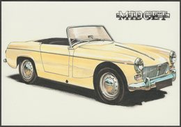 MG Midget Sports Car - Golden Era Postcard - Passenger Cars