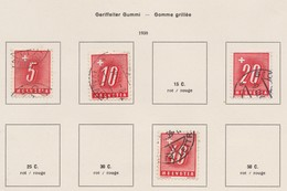 SUISSE 'Timbres-taxe' 1938:  Petit Lot D'oblitérés Gomme Grillée ,    TTB - Portomarken