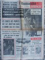 Journal L'Humanité Dimanche (2 Oct 1960) Premier Homme Dans L'espace - Paix Algérie - M Amont - Automobile - Rivière - Journaux - Quotidiens
