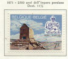 PIA - BELG - 1971 : 2500 Anni Dell' Impero Persiano - Tomba Achemenide Di Buzpar  -  (Yv  1602) - Archeologia