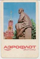 Calendar Russia - USSR 1970 - Aeroflot - Lenin - A Monument - The Kremlin - Vintage - History - Calendars