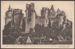 Château De Pierrefonds En Ruines, Oise, C.1930s - CAP CPSM LL225 - Pierrefonds