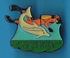 PIN'S //  ** PLONGÉE SOUS-MARINE // LES HOMMES GRENOUILLES / DE CONFLANS ** - Diving