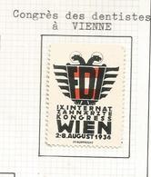 AUSTRIA VIÑETA 1936 WIEN CONGRESO DENTISTAS DENTIST ZAHNARZTE TOOTH MEDICINA - Otros