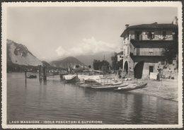 Isola Pescatori E Superiore, Lago Maggiore, 1950 - Preda Foto Cartolina - Other Cities