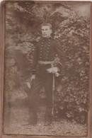 Grande Photo  Ancienne Montée Sur Carton/Élève Officier Ecole Navale/IIIéme République/Vers 1890-1910  PHOTN426 - Guerre, Militaire