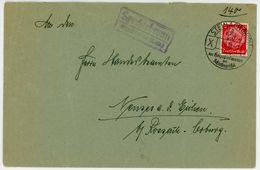 """Posthilfsstempel """"Spechtsbrunn über Steinach"""" Sonderstempel 1938 Fernbrief - Deutschland"""