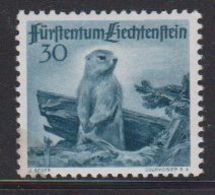 Liechtenstein 1947 Jagd II 30Rp Murmeltier ** Mnh (gum In Corner Damaged) (40451) - Liechtenstein