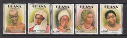 2003 Ghana Famous Women Complete Set Of 5 MNH - Ghana (1957-...)
