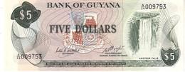 Guyana P.22 5  Dollars 1983  Unc - Guyana
