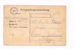 Kriegsgefangenensendung.Camp De Soltau à Thuin - Weltkrieg 1914-18
