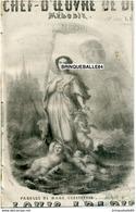 CAF CONC ROMANCE AMOUR PARTITION XIX LE CHEF D'OEUVRE DE DIEU CONSTANTIN LABADIE 1860 ILL [NANTEUIL] LÉTER SABLIER FAUX - Sonstige