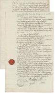 Neuf Brisach 1817 Fabrication De Bière-Brasseurs Avec Cachet De Cire - Documents Historiques