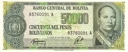 Bolivia P.196 50000 Bolivians 1987  Unc - Bolivia