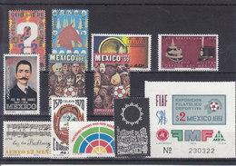 MICHEL NUM 1323-13340** - ANNEE COMPLETE 1970  - COTE 12.3 EURO - Mexique