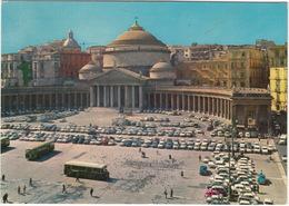 Napoli : FIAT 600 MULTIPLA, ALFA ROMEO GIULIETTA SS '57, CHEVROLET BISCAYNE, AUTOBUS - Piazza Plebiscito - Turismo