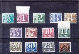 MICHEL NUM 76-88** - ANNEE 1970-75 - SERIE COMPLETE - COTE 52 EURO - Postage Due