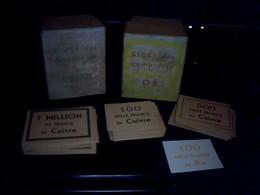 Ticket De Jeux Ancien LE STOCK DES COMPTOIRS Des Machines Du Cuivre  D' Or  Du Riz ....*** Objets A Etudeir ??? - Group Games, Parlour Games