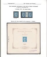 Une Belle Planche Timbre Ronsard épreuve Luxe Année 1924 : Signé Par A.Delzers  Le Graveur  . Lire Description - Epreuves De Luxe