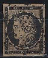 1849 - 1850 Céres N°3c  20c Noir /chamois Fonçé Oblitéré étoile De Paris   TTB - 1849-1850 Ceres