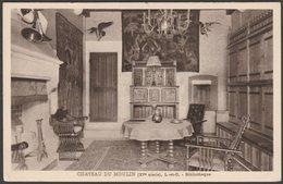 Bibliotèque, Château Du Moulin, Lassay-sur-Croisne, C.1920s - CPA - France