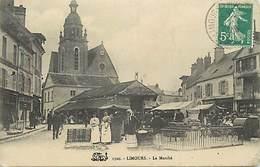 - Dpts Div.-ref-AC677- Essonne - Limours - Le Marché - Marchés - Arriere Plan Magasins - - Limours