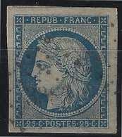 1849 - 1850 Céres N°4a 25c Oblitéré PC 3383 (Septeuil) Marges énormes, Voisins Superbe Signé Calves Et Pasquet - 1849-1850 Ceres
