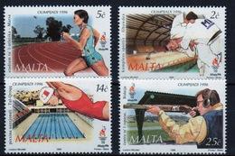 Malta 1996 Set Of Stamps To Celebrate Olympic Games Atlanta. - Malta