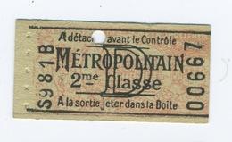 Lot De 3 Ticket De Métro Paris Compostés - Metro