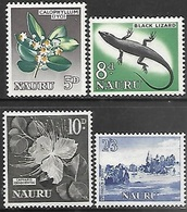 Nauru 1963-4  Sc#51-3, 55 4 Better  MNH   2016 Scott Value $5 - Nauru