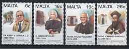 Malta 1997 Set Of Stamps To Celebrate Pioneers Of Education. - Malta