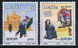 Malta 1997 Set Of Stamps To Celebrate Europa Tales And Legends. - Malta