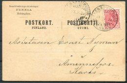 1893 Finland Bolagets Agent, Ekenas Postcard Fennia Helsingfors - 1856-1917 Russian Government