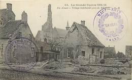 Themes Div -ref X895-guerre 1914-18-cachets -cachet -village Bombardé Pres  De Thann - - WW I