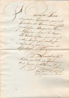 PARANAGUA - BRAZIL 1828 -request GOBERNADOR To Let Swedish Bergantin Pass Towards The Pacific Ocean With Scale Uruguay - Documentos Históricos