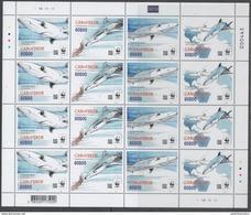 CAPE VERDE, 2016,MNH, WWF, SHARKS, SHEETLET OF 4 SETS - Unused Stamps
