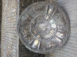 Centrotavola Portacioccolatini In Rame Argentato Sbalzato Vintage - Cobre