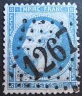 R1494/196 - NAPOLEON III N°22 - GC 1267 : DAMERY (Marne) ☛ INDICE 6 - 1862 Napoleon III