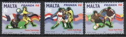 Malta 1998 Set Of Stamps To Celebrate World Cup Football. - Malta