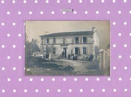 17 CARTE PHOTO  COURCOURY MAISON FAMILIALE DU DOCTEUR NATIER Pierre 1924 - Saintes